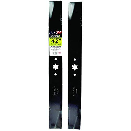 Maxpower 561556 (2) Blade Set For 42' Cut MTD, Cub...