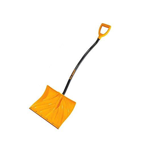 True Temper Poly Snow Shovel/Pusher with Ergonomic D-Grip Steel Handle (18 Inch)