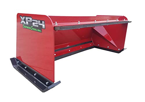 5' XP24 Pullback Skid Steer Snow Pusher Red