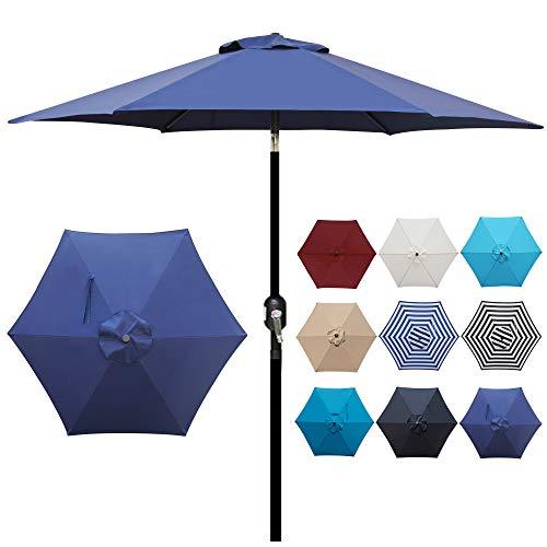 Blissun 7.5 ft Patio Umbrella, Yard Umbrella Push...