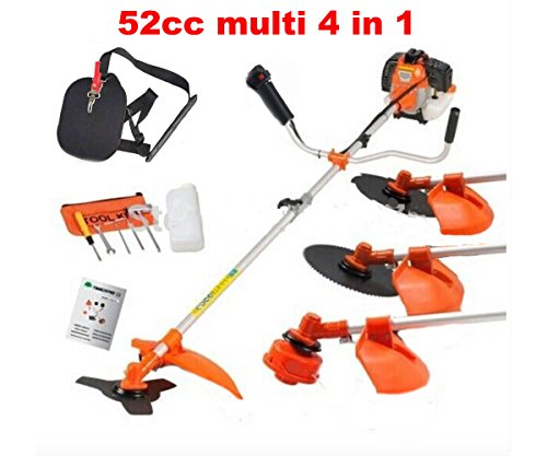 CHIKURA Multi powerful 52cc gasoline brush cutter 4 in 1 grass trimmer strimmer cutter garden tool