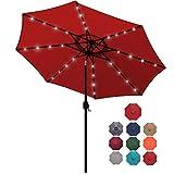 Blissun 9 ft Solar Umbrella 32 LED Lighted Patio...