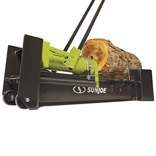 Sun Joe LJ10M 10-Ton Hydraulic Log Splitter, Green