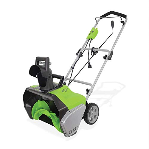 Greenworks 13 Amp 20-Inch Corded Snow Thrower, 2600502
