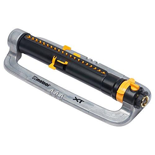 Melnor XT4200M XT Metal Oscillating Lawn Sprinkler, Black