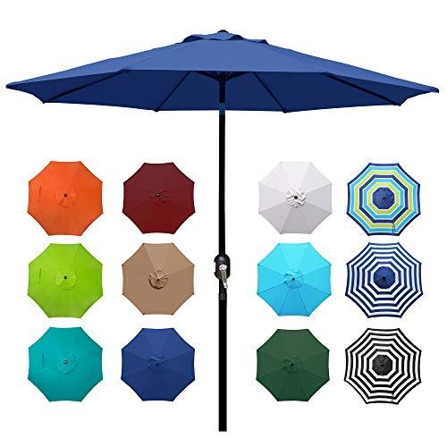 Blissun 9' Outdoor Aluminum Patio Umbrella,...