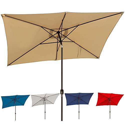 Blissun 10' Rectangular Patio Umbrella Outdoor...