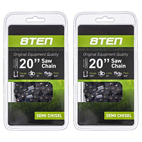 8TEN Chainsaw Chain for Stihl MS290 MS362 MS650...