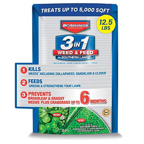 BIOADVANCED 704840B 3 in 1 Weed and Feed for...