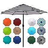 Blissun 9' Outdoor Aluminum Patio Umbrella, Market...
