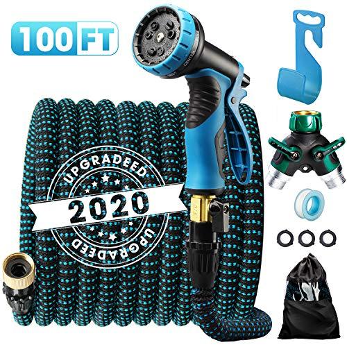 Delxo 2020 Upgrade100FT Expandable Garden Hose...